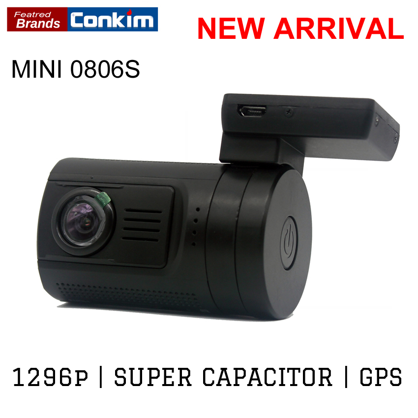 Conkim Ambarella A7 Dash Camera Car DVR With GPS 1296P 1080P Full HD Auto Video Recorder LDWS Mini 0806s Upgrade From Mini 0806 junsun ambarella a7 car dvr camera video recorder full hd 1080p 60fps speedcam with gps logger night vision dash cam registrar