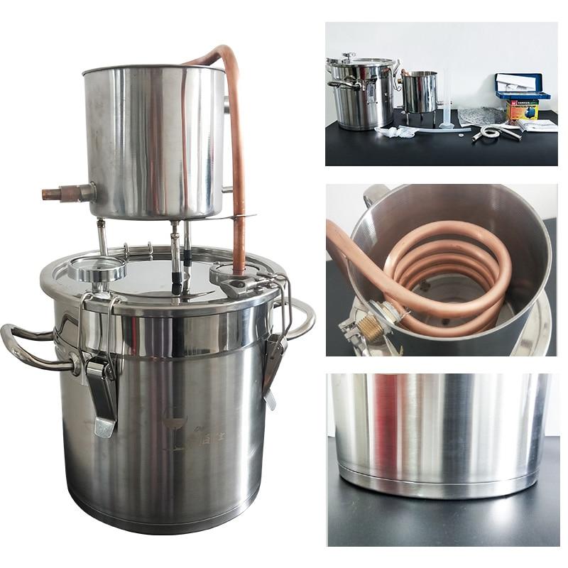 3Gal/12L Moonshine destylator alkoholu Home Brew używane destylator wody destylator olejków eterycznych alkoholu, dzięki czemu w Destylatory od Dom i ogród na  Grupa 1