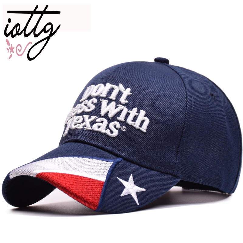 IOTTG 2018 Summer   Baseball     Cap   Sun Hats Don't Mess With Texas Letters Embroidery Hats Outdoor Men Women Unisex Snapback Hat