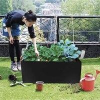 Saco de plantio pomar ferramenta saco de controle raiz quadrado morango planta jardim flor berçário saco vegetal estufa plantador|Sacos crescimento| |  -