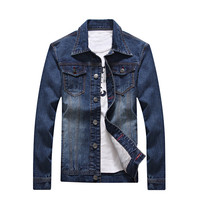2018 S 4XL Men Jean Jacket Clothing Denim Jacket Fashion Mens Jeans Jacket Thin Spring Outwear Male Cowboy