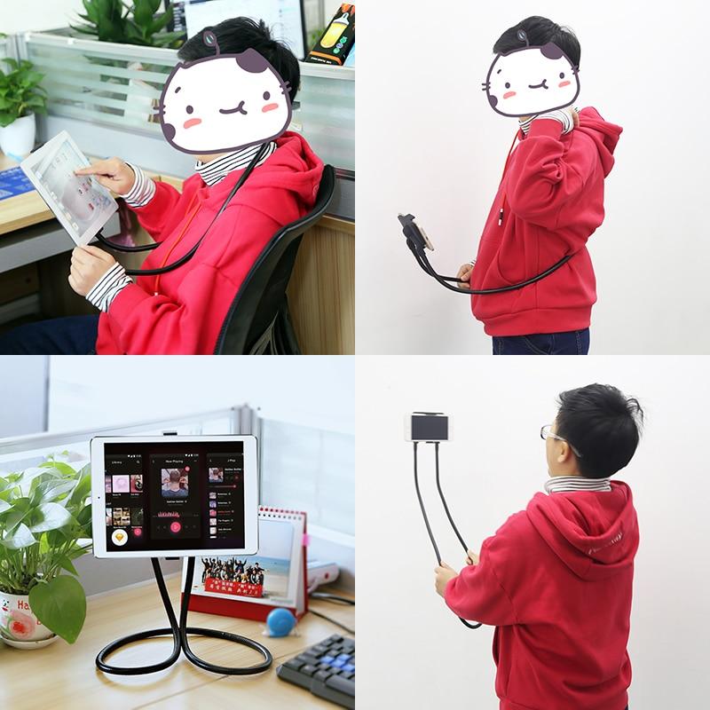 Flexibel mobiltelefonhållare Hanging Neck Lazy Necklace Bracket - Reservdelar och tillbehör för mobiltelefoner - Foto 5