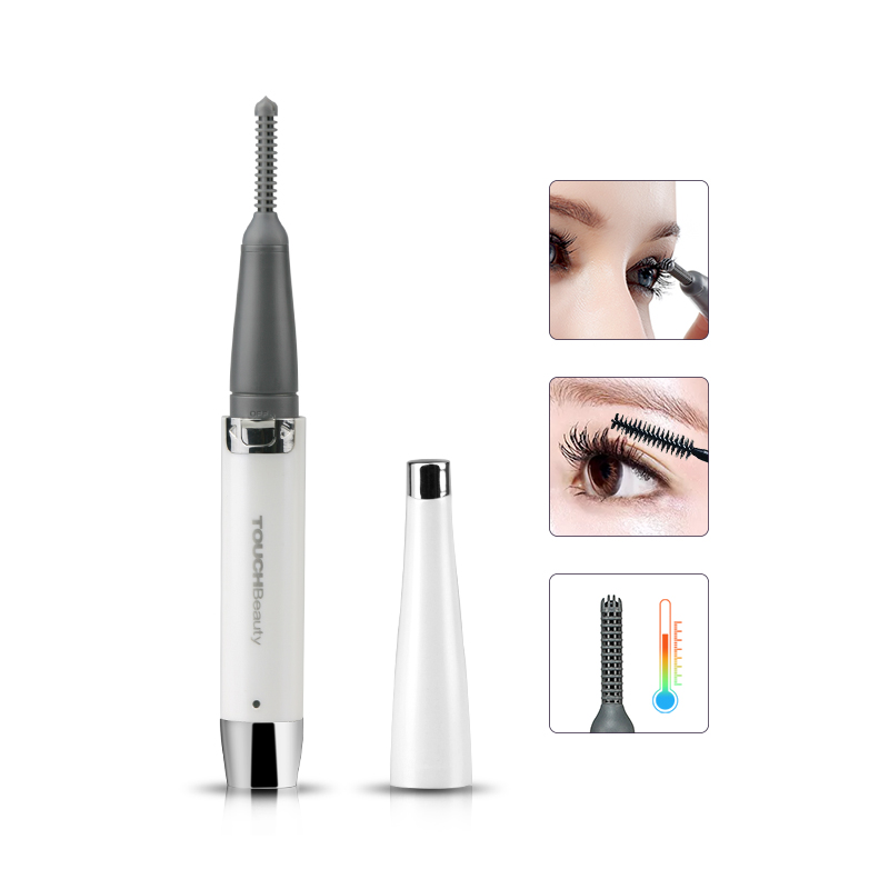 TOUCHBeauty Rechargeable 360 rotating portable eyelash curler, electric heated eyelashes curler for women makeup tools TB-1218 handy electric eyelash curler white green 2 x aaa