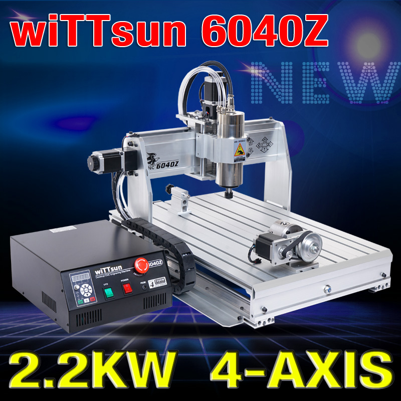 USB ! CNC 6040 4 axis 2.2KW CNC router wood carving machine woodworking milling engraving machine cnc engraver mach3 control