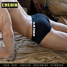 2019 New Brand Men Underwear mesh Men Gay Briefs Sexy Cotton Panties Plus Size Male Shorts Breathable Slip Sexy Patchwork Briefs
