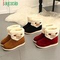 Alta qualidade Das Senhoras Da Forma Das Mulheres Botas Flat Botas de Inverno Quente Sapatos de Neve