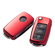 Soft TPU car key cover case shell fob for VW Golf Bora Jetta POLO GOLF Passat For Skoda Octavia A5 Fabia For SEAT Ibiza Leon turbo chra for audi a3 seat leon altea ibiza cordoba skoda roomster fabia octavia ii vw golf caddy iii passat b6 jetta touran