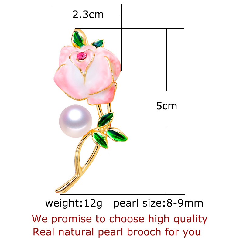 SHDIYAYUN New Pearl Brooch Enamel Flower Brooch For Women Chinese Style Brooch Pins Brooches Natural Freshwater Pearl Jewelry in Hair Jewelry Brooches Body Jewelry from Jewelry Accessories