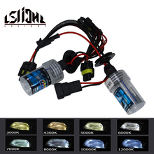 LSlight 12 В 35 Вт Ксеноновые лампочки автомобиля h4 H7 h27 h13 H1 H3 H11 9005 9004 9006 hb2 hb3 hb4 HID комплект Luces Ксенон Авто лампы фар