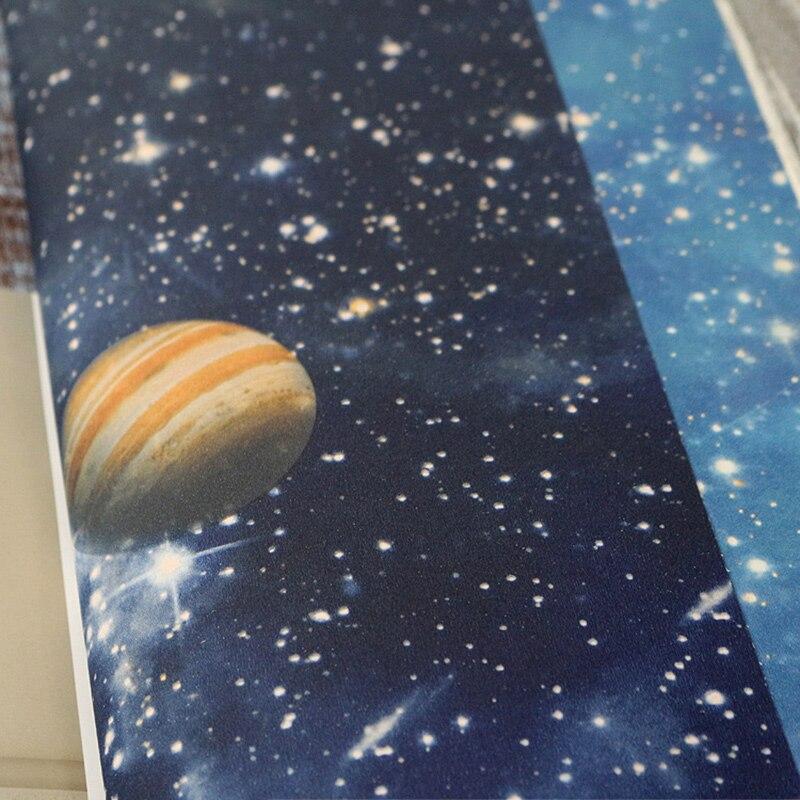 Купить с кэшбэком Mural Wallpapers Home Decor Oueter Space Wall Paper for Kids Bedroom Planet Children Night Star Room Wallpapers Blue  behang