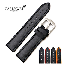 CARLYWET 20 22mm Wholesale Silicone Rubber Waterproof Replacement Straight End Wrist Watchband Strap For Dayjust Tudor Omega