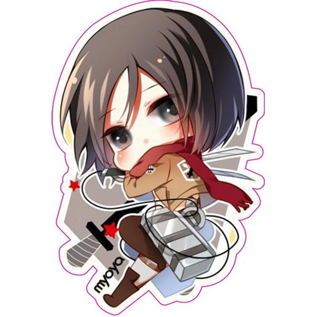 Attack on titan mikasa ackerman stickers shingeki no kyojin fixed gear luggage phone