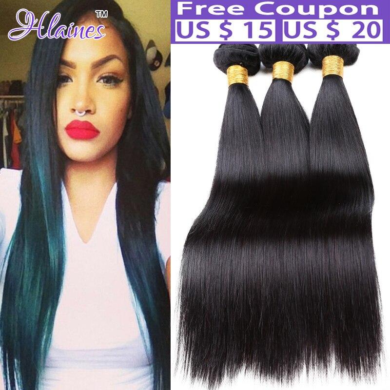 Malaysian Virgin Hair Straight 7A Unprocessed Straight Virgin Hair Weave Human Hair Extension 3 Bundles Malaysian Straight Hair
