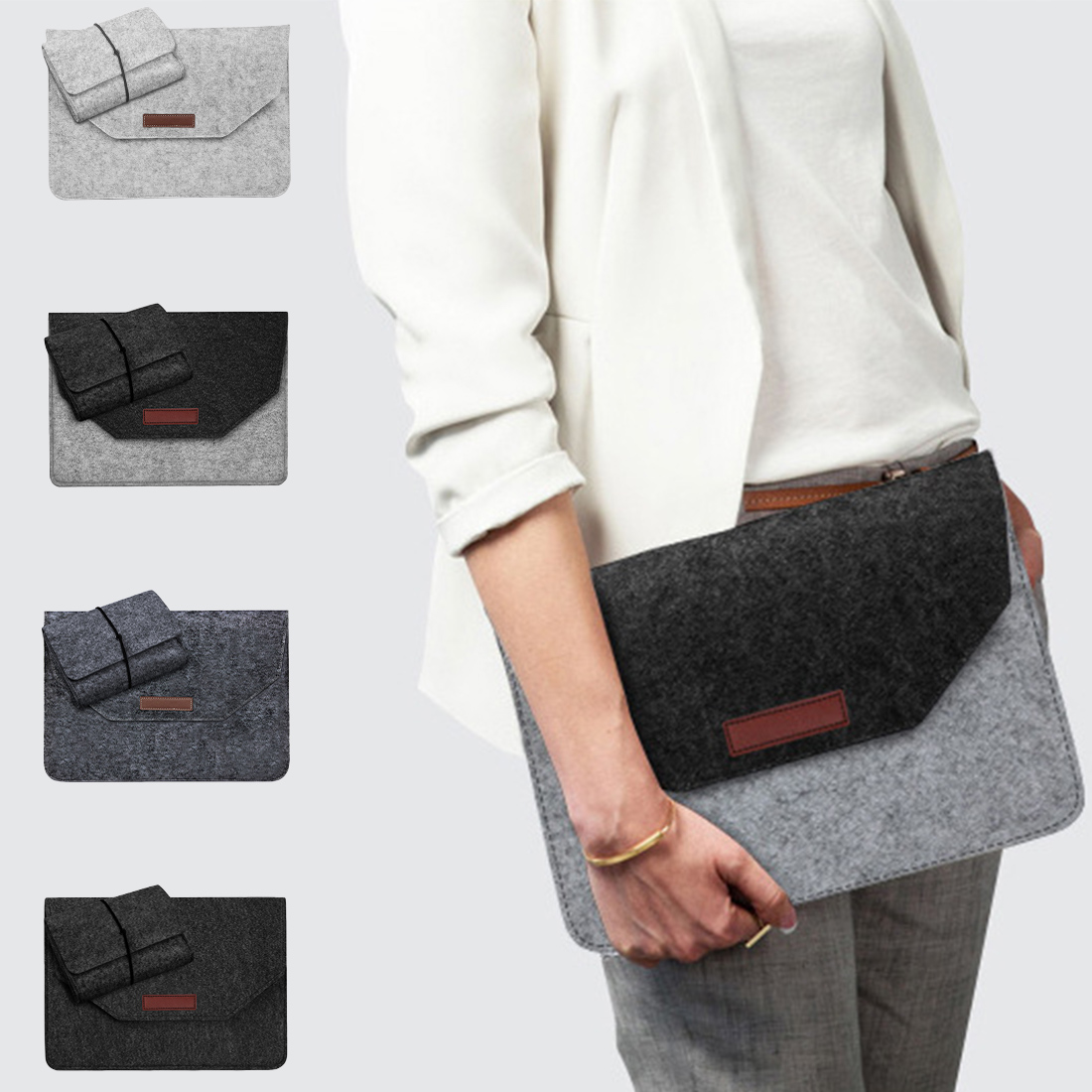 Soft Laptop Bag Case For Macbook Air Pro Retina 11  13 15'' Inch Laptop Anti-scratch Cover For Mac Book