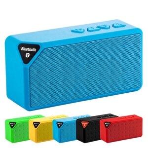 Image 2 - ミニ Bluetooth スピーカー X3 サポート TF USB FM ラジオ再生ワイヤレスポータブル音楽サウンドボックスサブウーファースピーカーとマイク