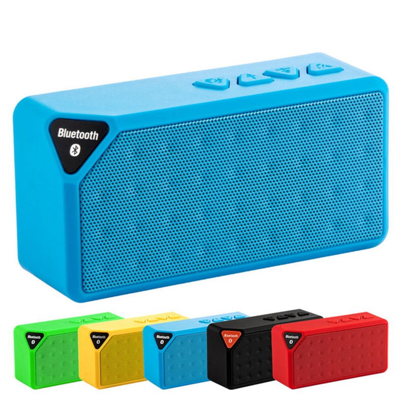 Mini Bluetooth Speaker X3 Support TF USB FM Radio Play Wireless Portable Music Sound Box Subwoofer Loudspeaker With Mic in Portable Speakers from Consumer Electronics