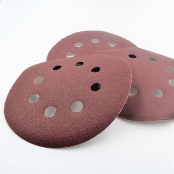 20pcs 5 Inch 125mm Round Sandpaper w Eight Hole Disk Sand Sheets Grit 60-1000 Hook and Loop Sanding Disc Polish