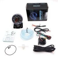 CNSPEED 60 MM Cara Negro Car Turbo Boost gauge 3 BAR Con Blanco y Ámbar Iluminación turbo boost meter/Metro del coche TT101246