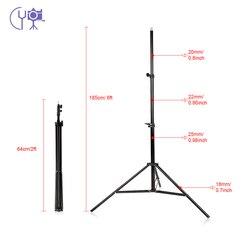 2m/6.6ft Light Stand Tripod 1/4 Screw for Studio Photo Video Lighting Softbox Flashgun Lamps Umbrella Reflectors Backgrounds