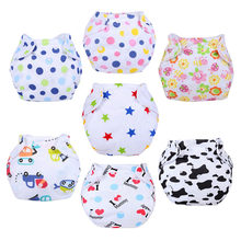 New Designs 5pcs/lot Baby Diaper Washable Learning Pants Cotton Training Pant B1TRX0016(China)