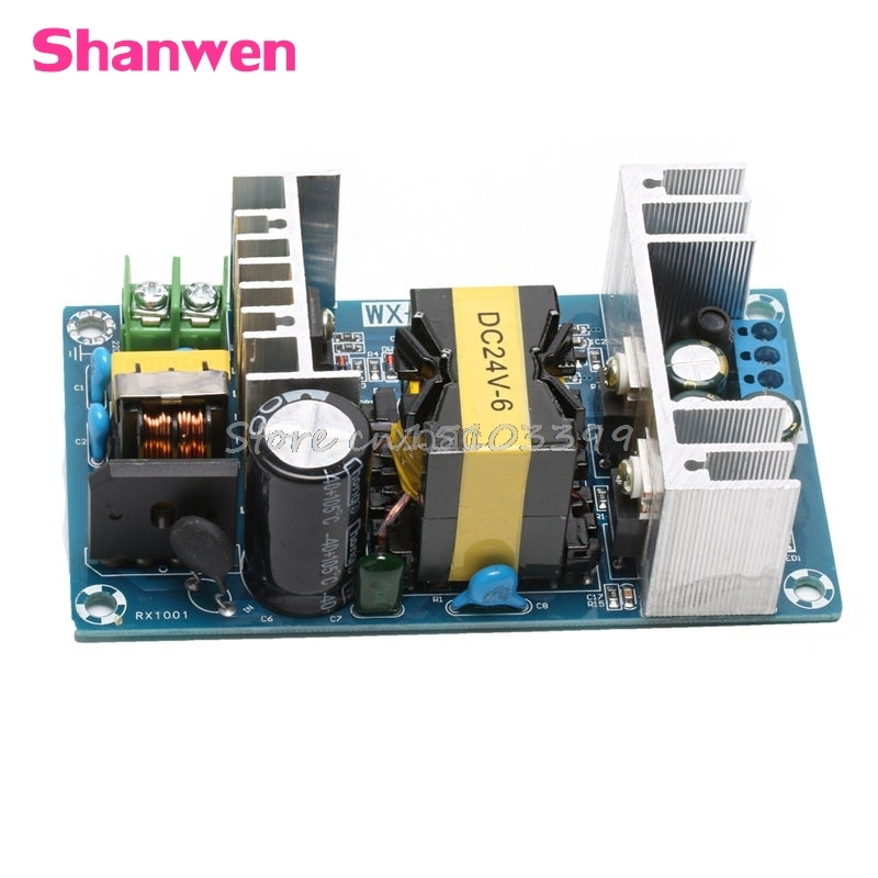 AC 100-240V to DC 24V 6A 150W Power Supply AC-DC Power Module Board Switch M12 dropship 24v switching power supply board 4a 6a power supply module bare board
