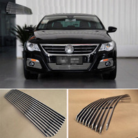 Alloy Aluminium Front Center Racing Mesh Bumper Grills Billet Grille Cover For VW CC 2009 2012
