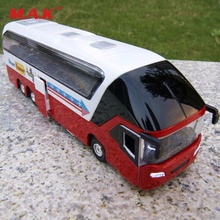 1:32 Scale Red Tour Bus Model 1/32 Diecast Car Model Toys Collectionable With light&sound(China)