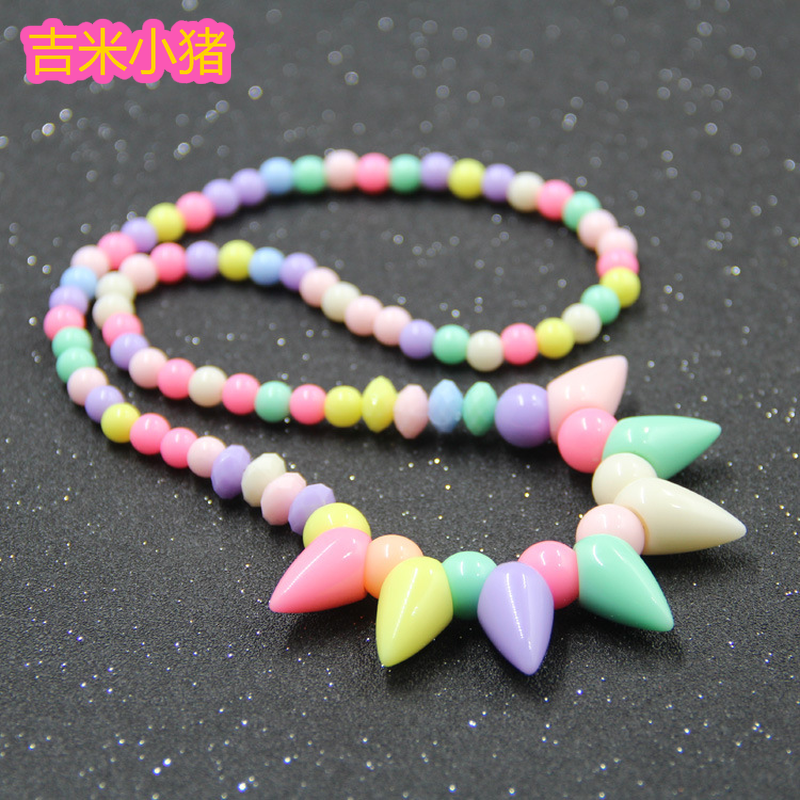 DIY Necklace Beads Crafts For Children Kids Bead Materials Girl Gifts Lacing Bracelets Toddler Toys 2019 New Dropshipping
