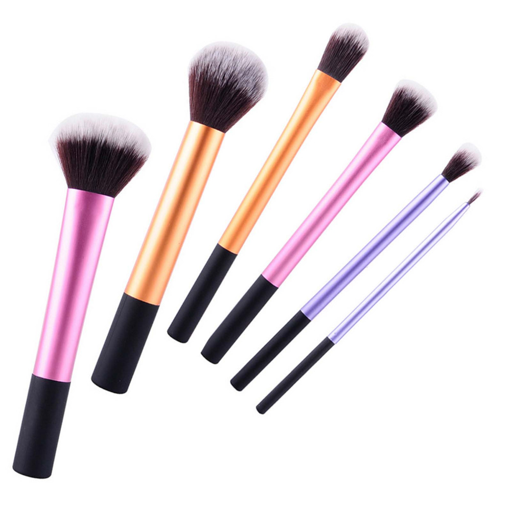 Professional 6 Pcs Handle Makeup Brushes Set  Foundation Concealer Eyeshadow Face Brushes Beauty Makeup Cosmetic Maquiagem Brush new 11pcs cosmetic eyeshadow foundation concealer bamboo handle makeup brushes set p4 m3