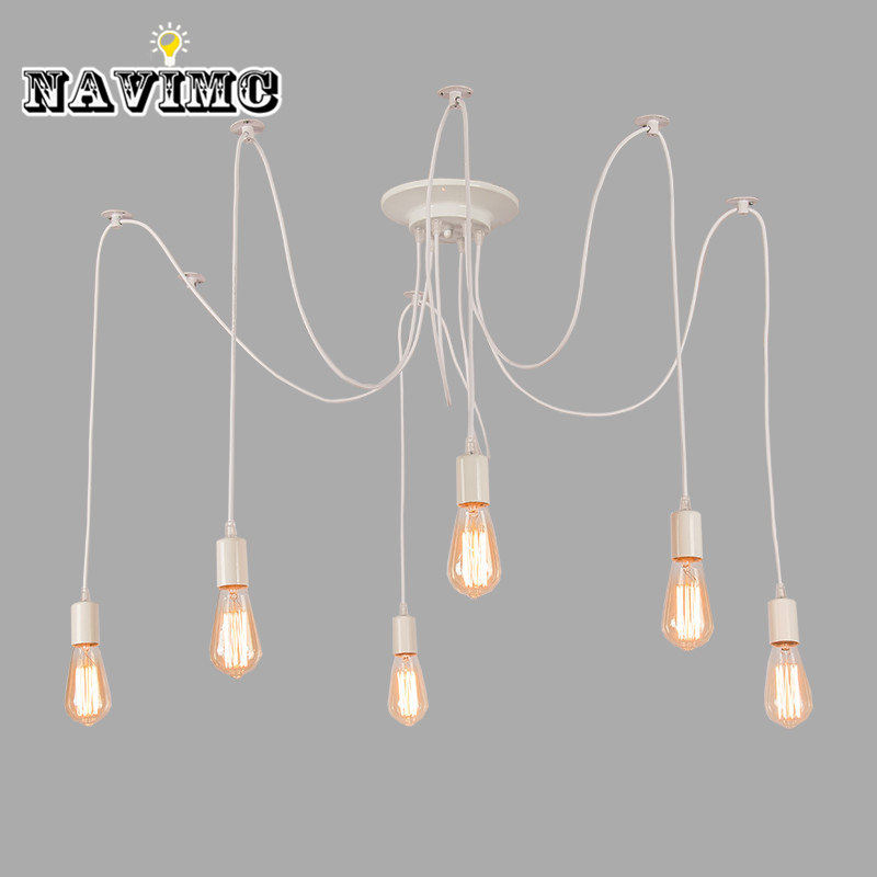 Modern Nordic Retro Light Children's Chandelier Vintage Loft Antique Adjustable DIY E27 Art Spider Pendant Lamp Home Lighting