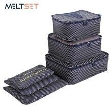 28eed5b15de31 6 adet/takım Seyahat Organizatör Depolama Çanta Taşınabilir Bagaj  Organizatör Giyim Düzenli Kılıfı Bavul Ambalaj