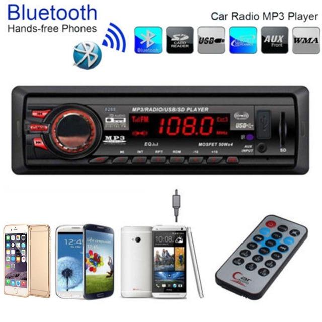 Car Auto Bluetooth En El Tablero de MP3 Reproductores de Audio FM Estéreo Receptor de Entrada Aux