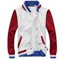 Free shipping 2016 baseball striped shirt Jackets fall and winter hit color cashmere coat sweatshirts