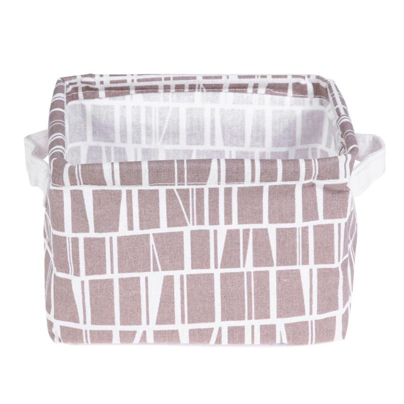 DIY Storage Basket Box Desktop Folding Linen Toy Storage Box Pastoral Floral Animal Jewelry Makeup Organizer Home Boxes Holder