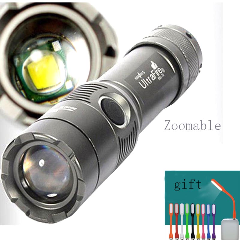 UltraFire T6 2000Lm CREE XML LED Zoomable 18650 AAA linterna antorcha lampara de luz Da Tocha de Alumínio lanterna brilho caça,