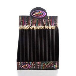 Image 5 - 20 pçs kawaii lápis de madeira preto lote pérola coroa lápis para a escola escritório escrita suprimentos coreano hb padrão lápis atacado