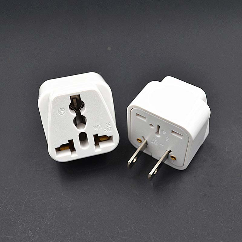 1pc Us 2 Pin Type A Universal Ac Travel Power Flat Plug