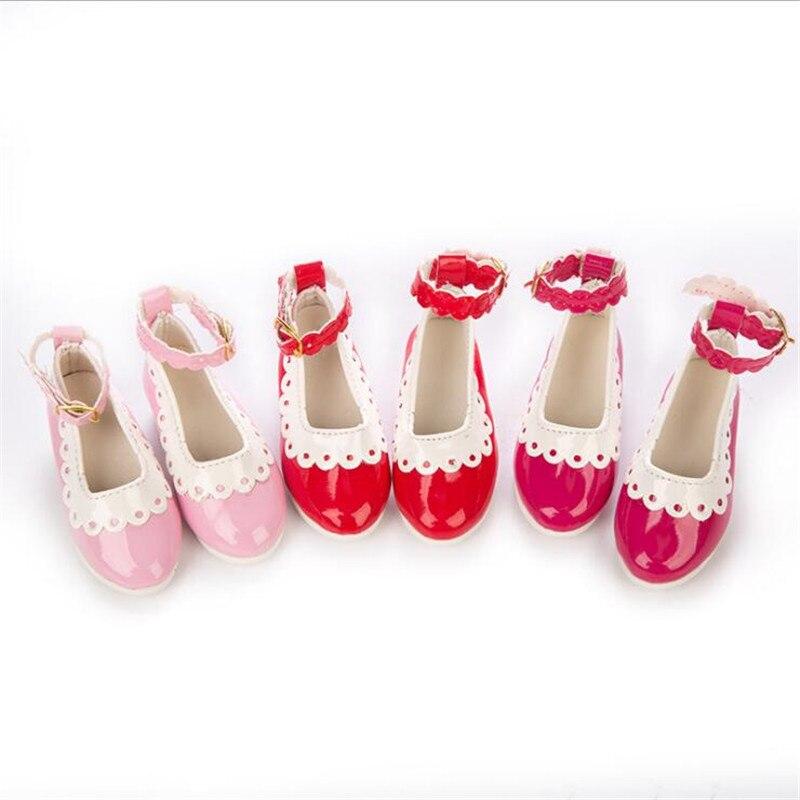 Nascido Bebê Novo Fit 18 polegada 40-43 Sapatos Boneca cinco centímetros 15 estilo Acessórios Da Boneca boneca BJD Rosa Vermelha sapatos Para Bebê Presente de Aniversário