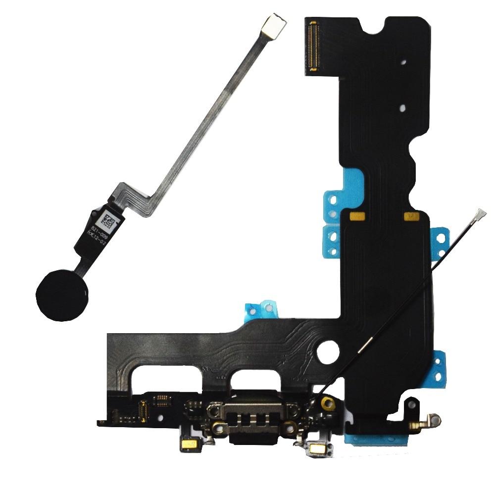 HOUSTMUST para iPhone 7 7 Plus 8 8 Plus cargador de carga Puerto Flex con botón de inicio Función de retorno de solución