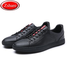 2019 Genuine Leather Men Shoes Fashion Handmade Top Quality Men Flats Male Casual Shoes Zapatos Hombre Lace-Up Black Moccasins