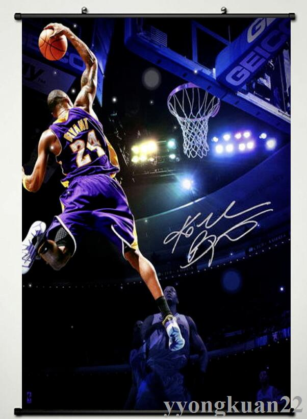 quality design 971d6 012f2 US $4.19 30% OFF|Kobe Bryant LA Lakers NBA Postertion Art Silk Poster  WallpaperCollection of gif Anime Poster Home Decoration 60x90cm-in Painting  & ...