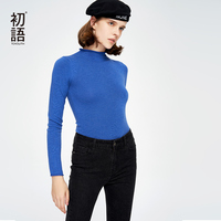Toyouth Women Long Sleeve Turtleneck Autumn Sweater Knitted Crop Mujer Thick Pullovers Korean Slim Casual Basic Tops 2018