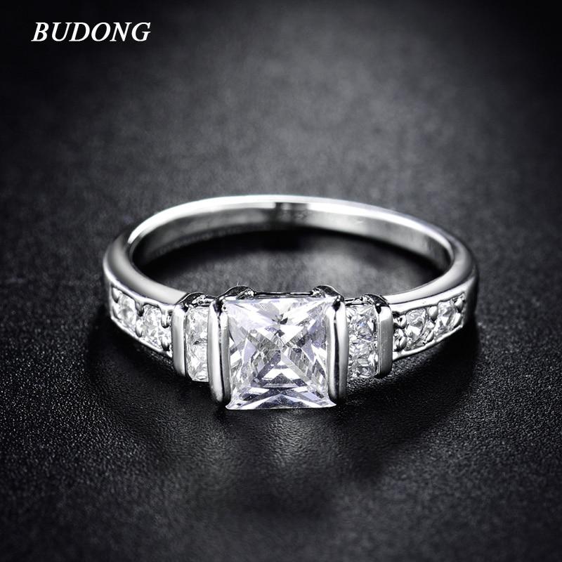 BUDONG Infinity Fashion Brand Wedding Rings for Women 2017 ...