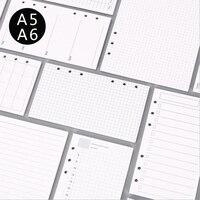 A5/A6 6 Trous De Base Type Main Compte Spirale Portable Charge de Papier Liant Planificateur Accessoires Intérieure Filler Papier pour Filofax