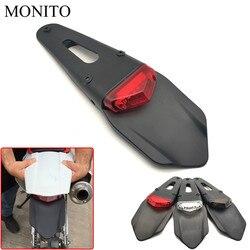 Motocykl TailLight Dirt Bike tylny błotnik hamulec Stop LED tylne światło dla SUZUKI DR250 DJEBEL 250XC YAMAHA YZ80 YZ85 YZ 80 85 150