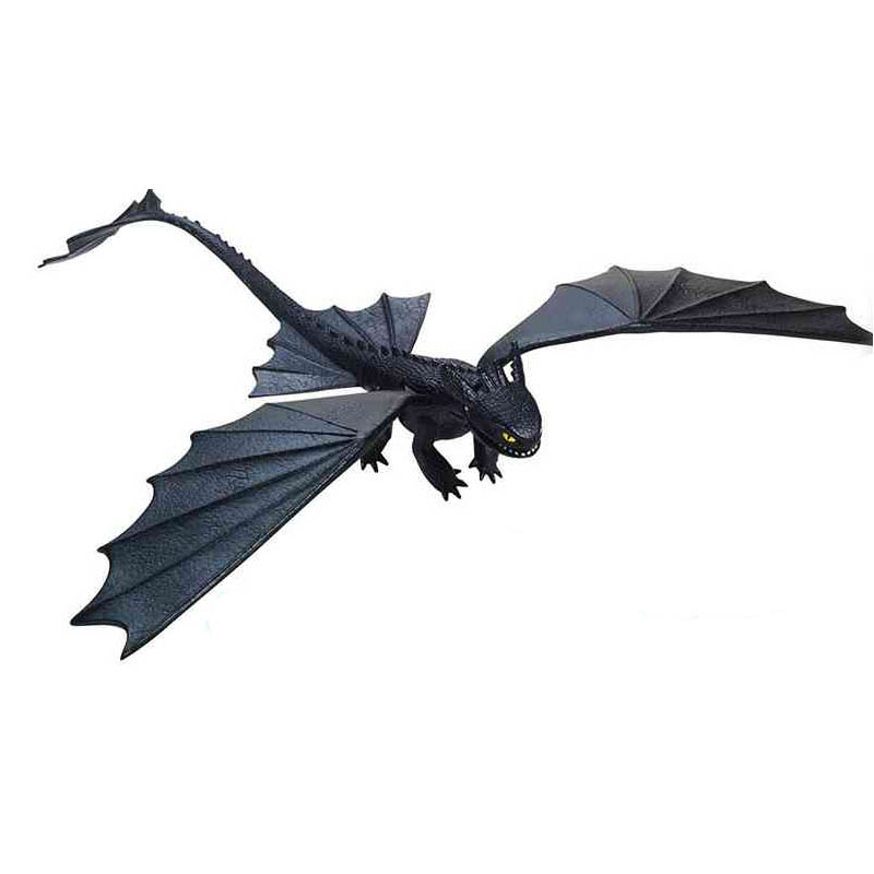 Figure Toy Shooting-Toys Train Toothless Dragon-Model Night-Fury Gifts Hand How PVC