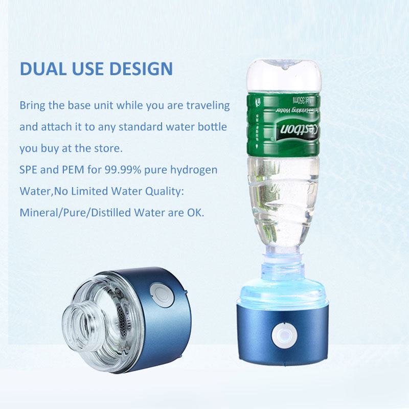 The 2th Generation H2 up to 3300ppb Hydrogen water bottle use DUPONT N324 membrane, with a simple hydrogen absorption device