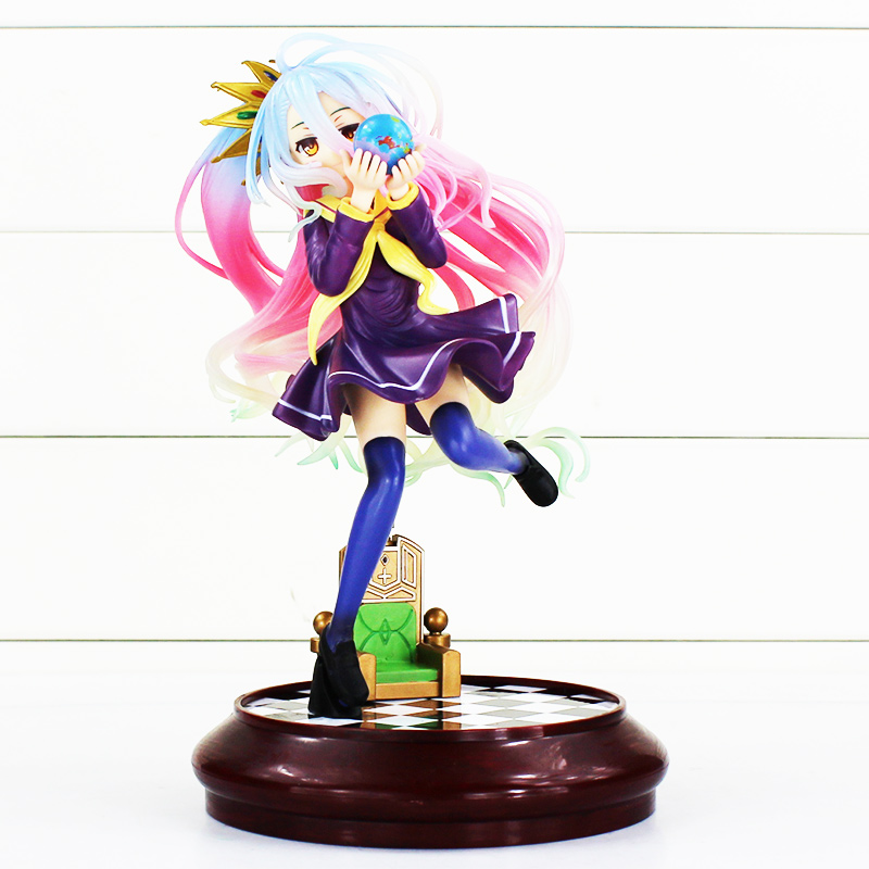 25cm Anime Sexy Girl Shiro Figure No Game No Life Japanese Anime Figures Furnishing articles PVC Action Figure Toy