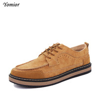 Yomior New 2017 Mens Shoes Flock Leather Men S Thick Bottom Handmade Mens Loafers Fashion Designer