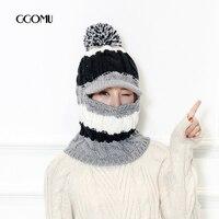 GGOMU Thời Trang Dày dệt kim hat khăn cap đối với phụ nữ mùa đông Ấm Hơn hat Beanie Co Giãn Knit Hat Skullies Beanies ZLH-191